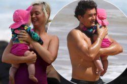 Кэти Перри и Орландо Блума заметили на пляже Гавайев