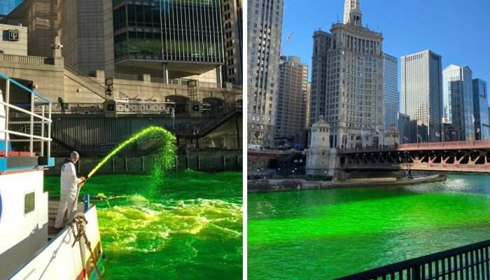 Чикаго, Святой Патрик, зеленая река,
