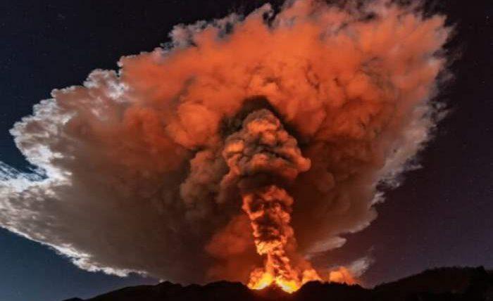 Этна, Италия, извержение,