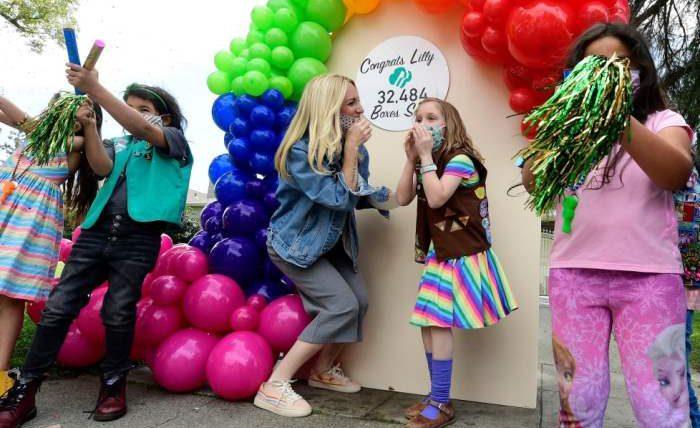 девочка-скаут, печенье, Калифорния,