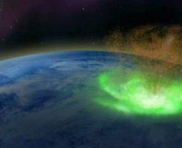 космический ураган, Северный полюс,