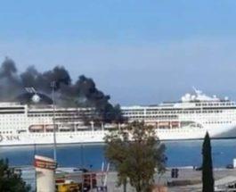 пожар, судно, круизный лайнер, MSC Lirica,