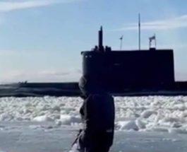 рыбаки, лед, подводная лодка,