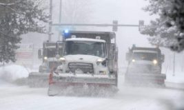 снег, США, метель,