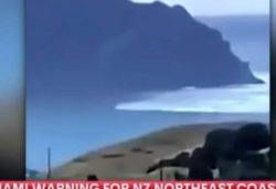 Мощное цунами из-за сильного землетрясения недалеко от Новой Зеландии (ВИДЕО)