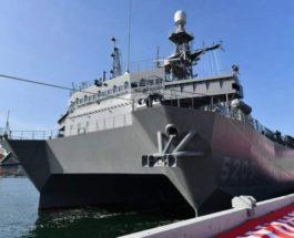 JS Aki, корабль, наблюдение, Япония,