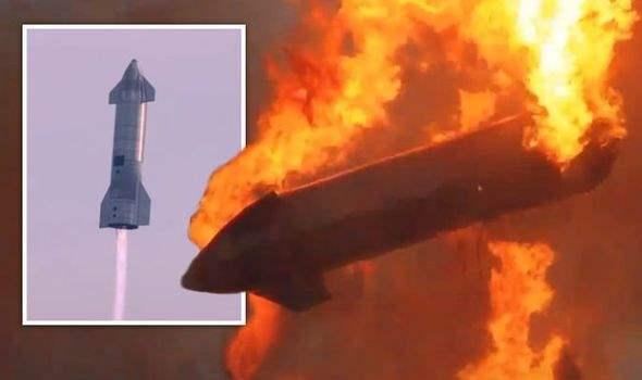 Starship, SN10, взрыв, SpaceX,