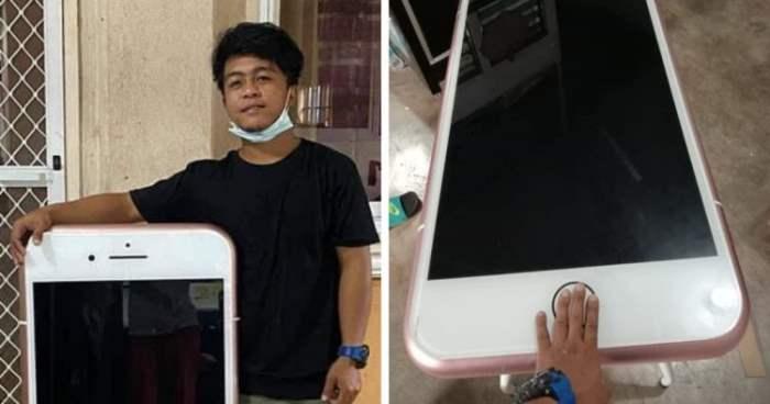 Тайский подросток, iPhone, журнальный столик,