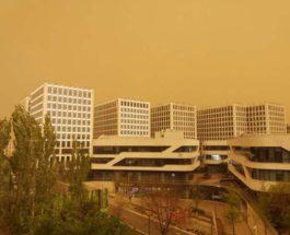 Китай, песок, песчаная буря,