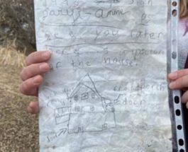 Ледук, Альберта, Канада, письмо,