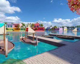 Мальдивы, плавучий остров,