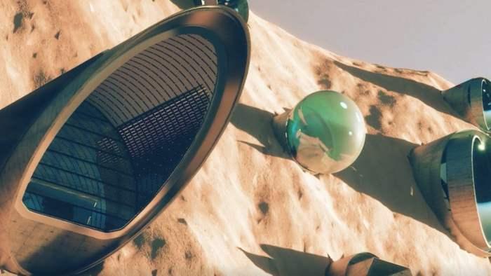 Марс, город,