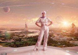 Мэйси Уильямс появилась в качестве аватара в футуристическом видео, когда ее называют глобальным послом H&M по вопросам устойчивого развития