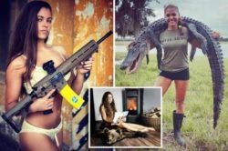 Охотница зарабатывает 3 тысячи фунтов стерлингов в неделю, позируя в нижнем белье с оружием и мертвыми животными