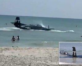 Самолет, Флорида, пляж, TBM Avenger,
