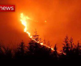 Северная Ирландия, пожар,
