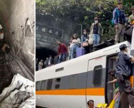 Тайвань, поезд, крушение,