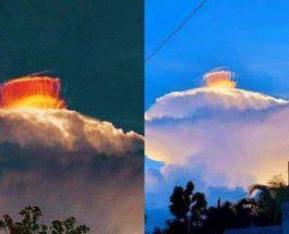 Филиппины, радужность, облака, свечение,