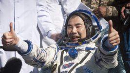 Японский астронавт, рекорд, выход в космос,