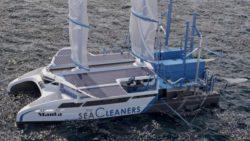 Яхта «Манта» решит очень важную экологическую проблему и заодно будет производить топливо для себя (Видео)