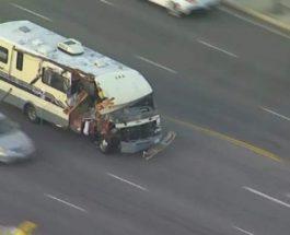 автобус, погоня, авария, преследование,
