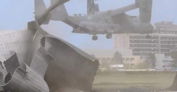 вертолет США, osprey, вертолетная площадка,