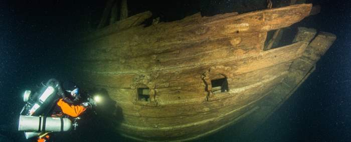 корабль XVII века, Балтийское море, флейт, голландский корабль,