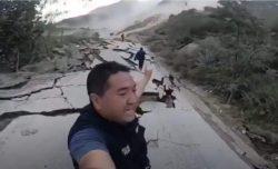 Гигантский оползень разрушил 1 км дороги в Перу