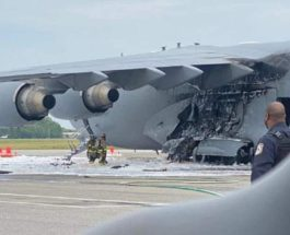 C-17 Globemaster III, пожар, самолет,