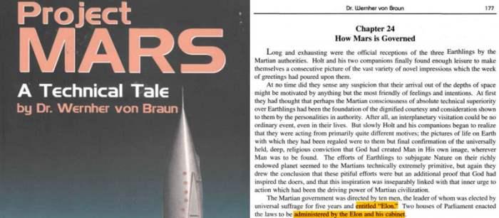 Илон, предсказание, Марс, Вернер Фон Браун, Илон Маск, книга,