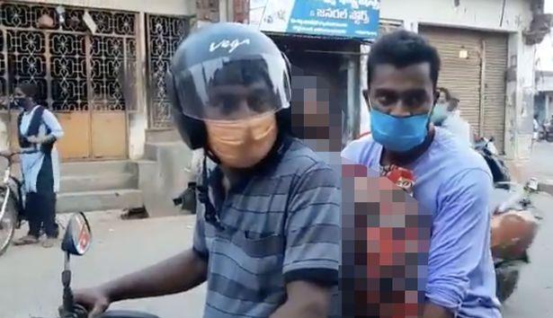 Индия, мать, труп, мопед, мотоцикл,