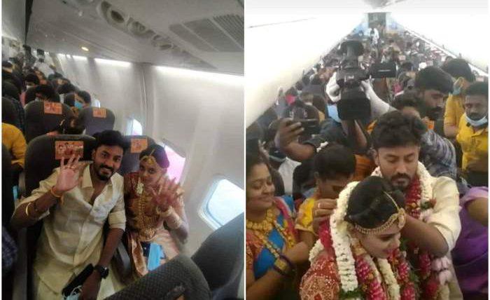 Индия, пара, самолет, свадьба,