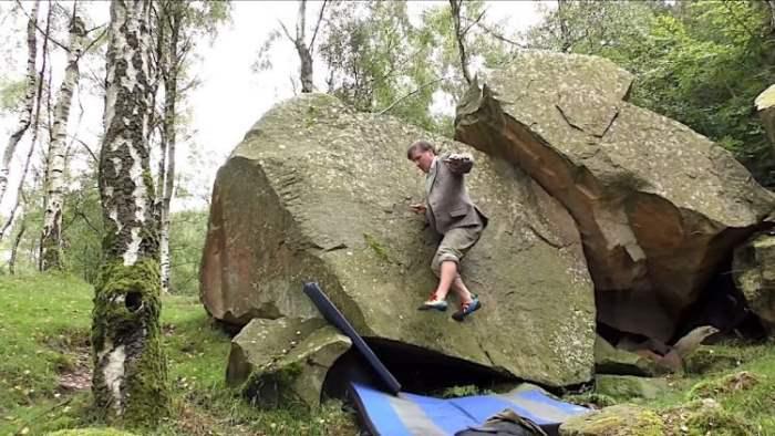 Мастер скалолазания, Джонни Доус, скалы, без рук,