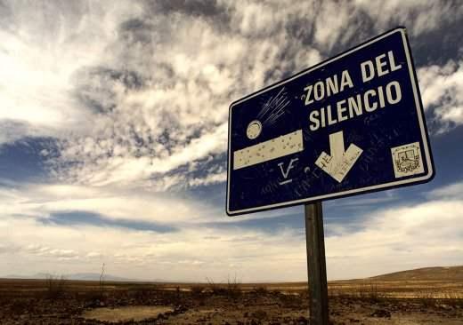 Мексиканская зона тишины, Бермудский треугольник,