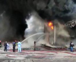 Пожар, Иран, химический завод,