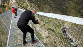 Португалия, пешеходный мост, подвесной мост,