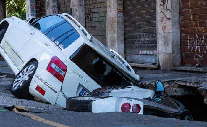 Рим, провал, дорога,