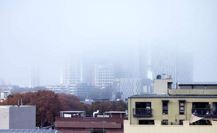 Сидней, дым,