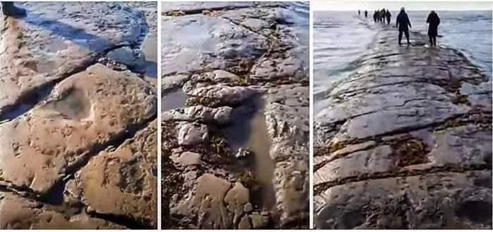 Тихий океан, каменная дорога,