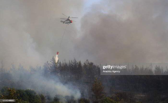 Турция, пожар, вертолеты,