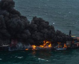 Шри-Ланка, контейнеровоз, пожар,