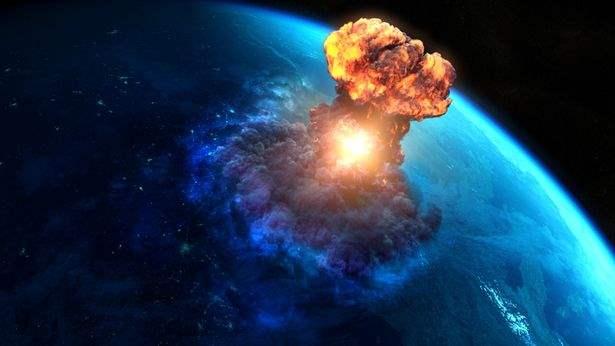 астероид, удар,