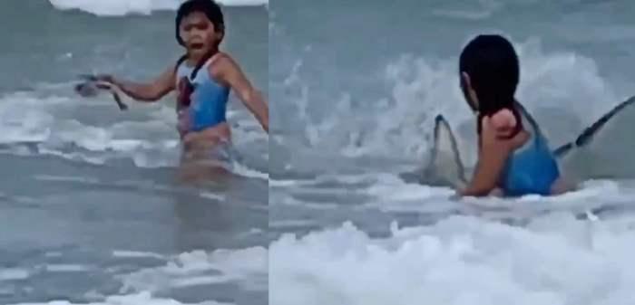 девочка, ребенок, акула,