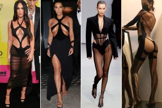 мода, обнажение тела, наряды,