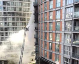 небоскреб пожар
