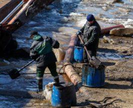 нефть, Россия, разлив нефти,
