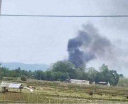 повстанцы, Мьянма, военный вертолет,