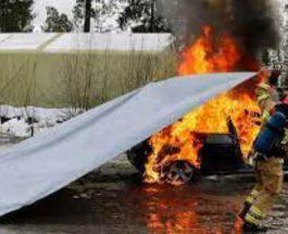 тент авто пожар