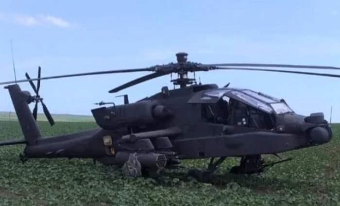 AH-64 Apache, Румыния, вертолет, аварийная посадка,