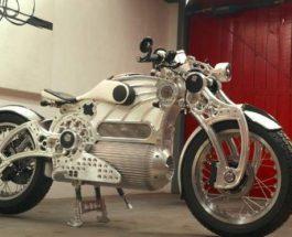 Curtiss One, мотоцикл, электромотоцикл,